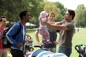 Dudes Group Chris Rock, Rodrigo Santoro What To Expect When You're Expecting movie opening May 18, 2012
