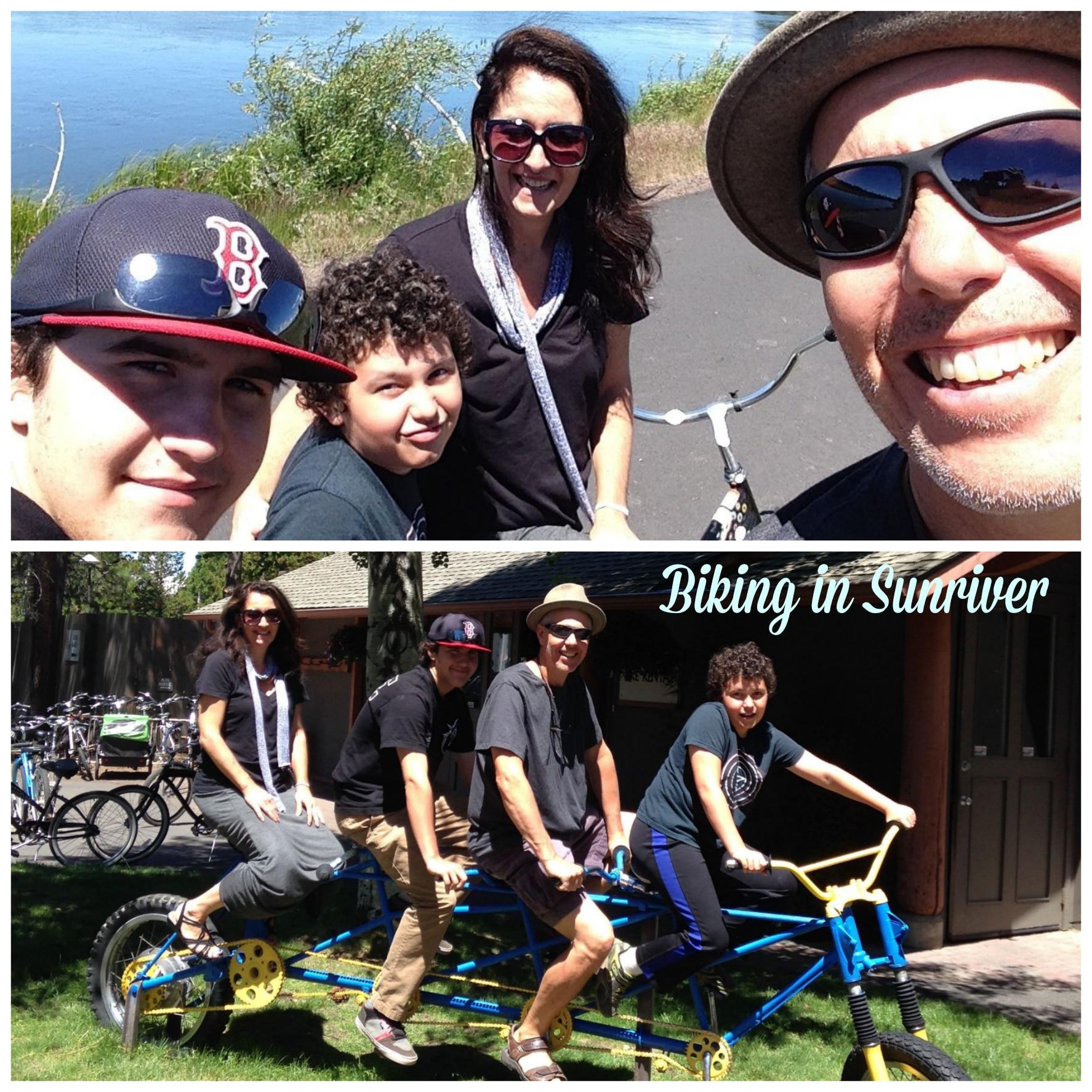 biking sunriver collage
