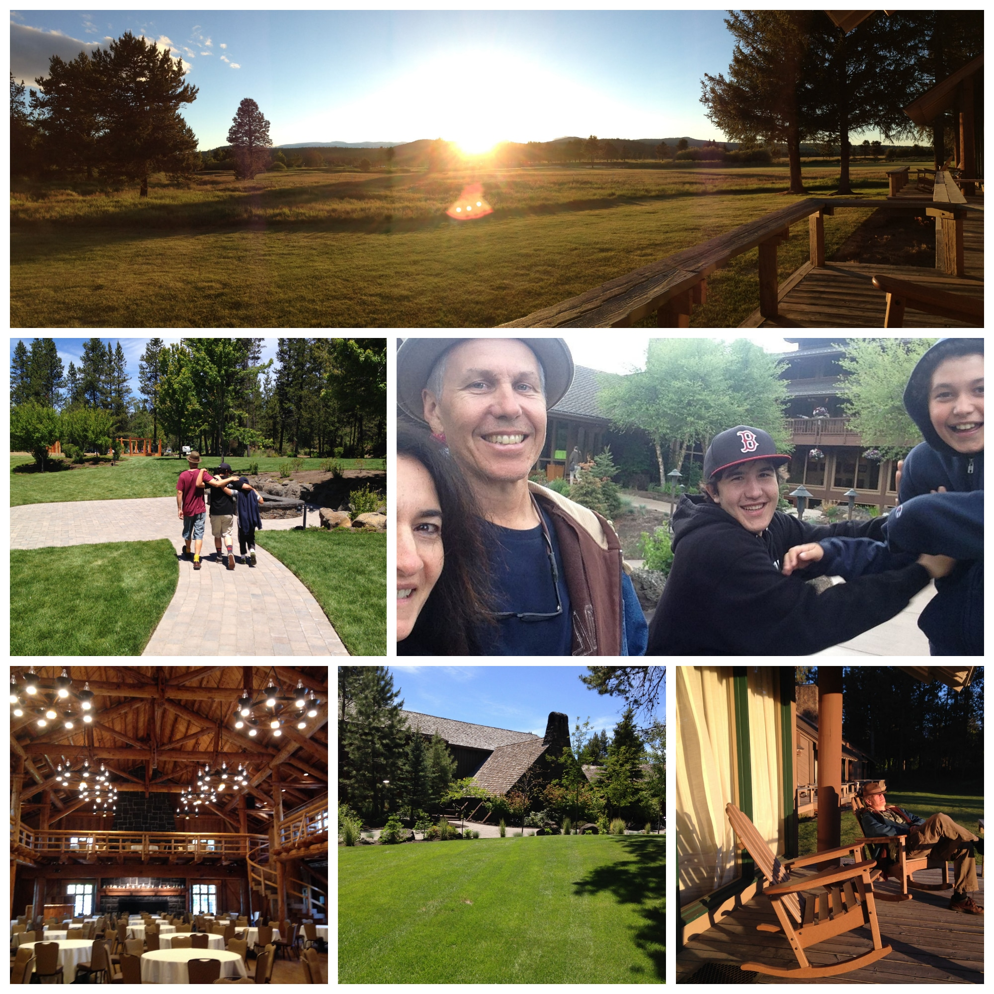 Family bonding at the Sunriver Lodge