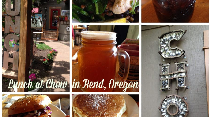 Chow lunch in Bend, Oregon