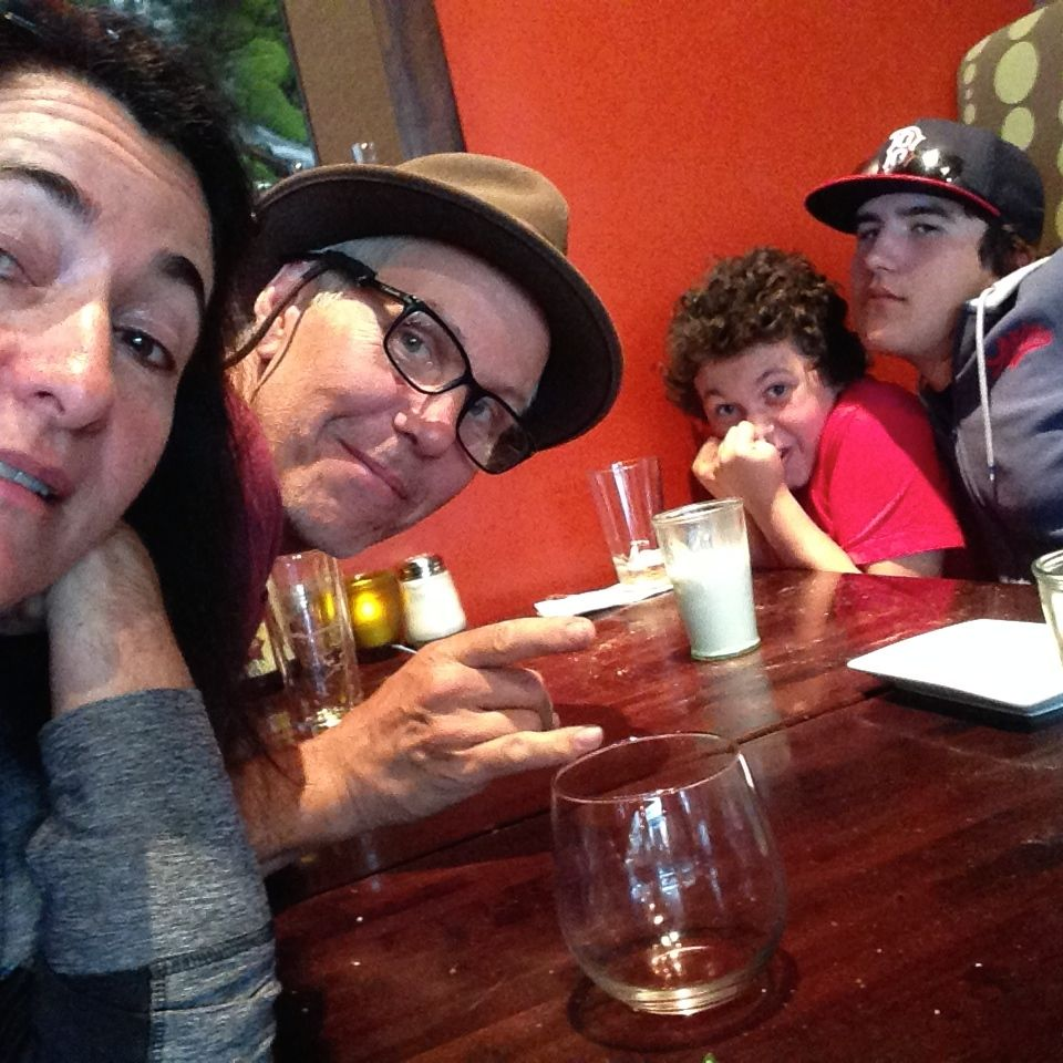 Family Time Dinner Selfie in Bend, Oregon