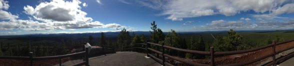 panorama view from lava butte, sunriver, Oregon