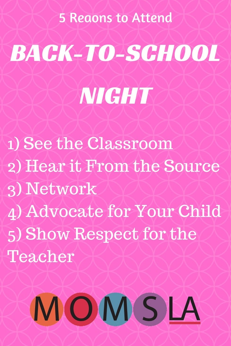 Going to Back to School Night can seem like just another task in a busy school year. But we have 5 reasons we think you might want to attend. #backtoschool #teachablemoments