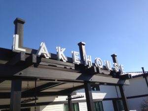 Lakehouse Hotel & Resort sign