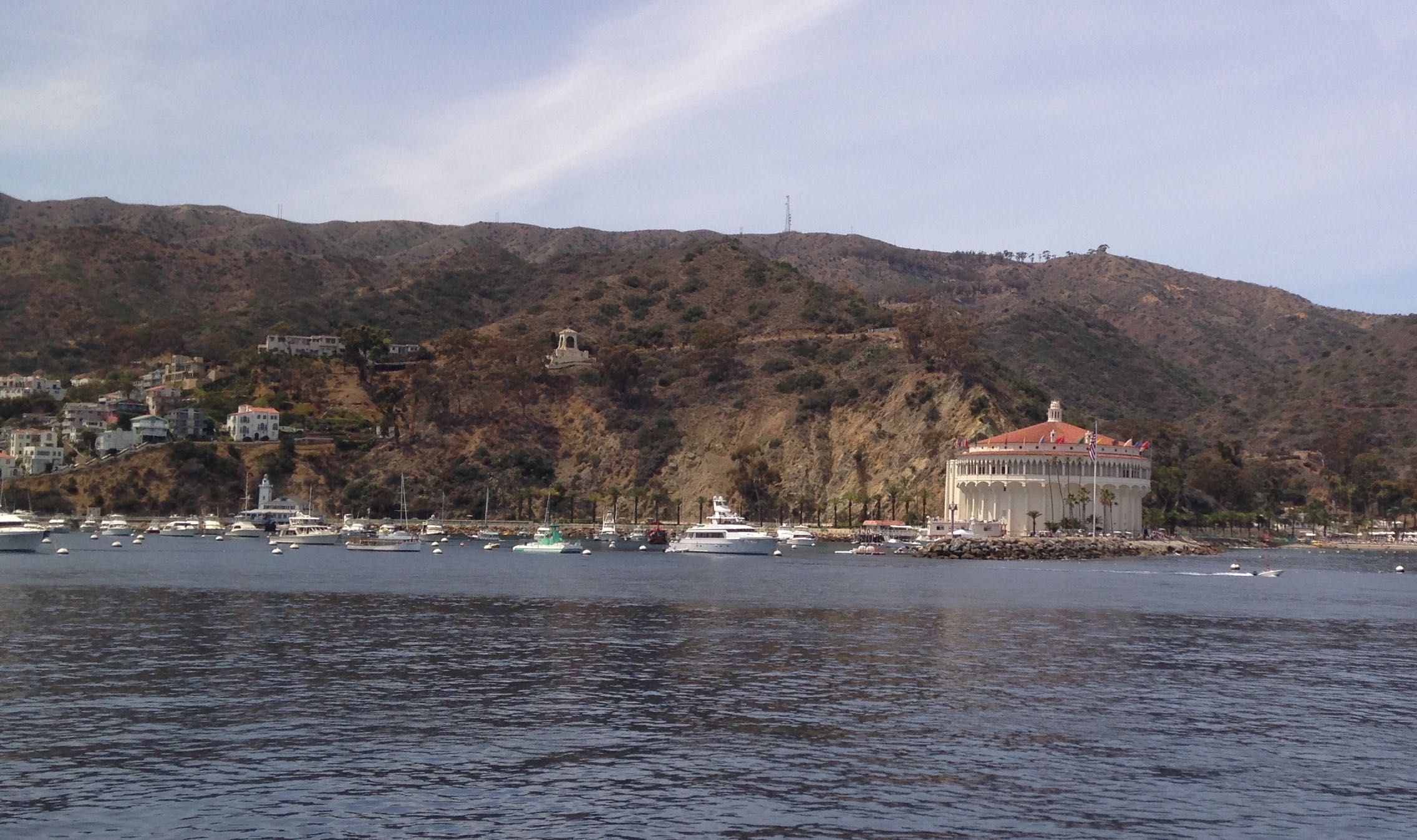 Avalon harbor and the casino from the boat