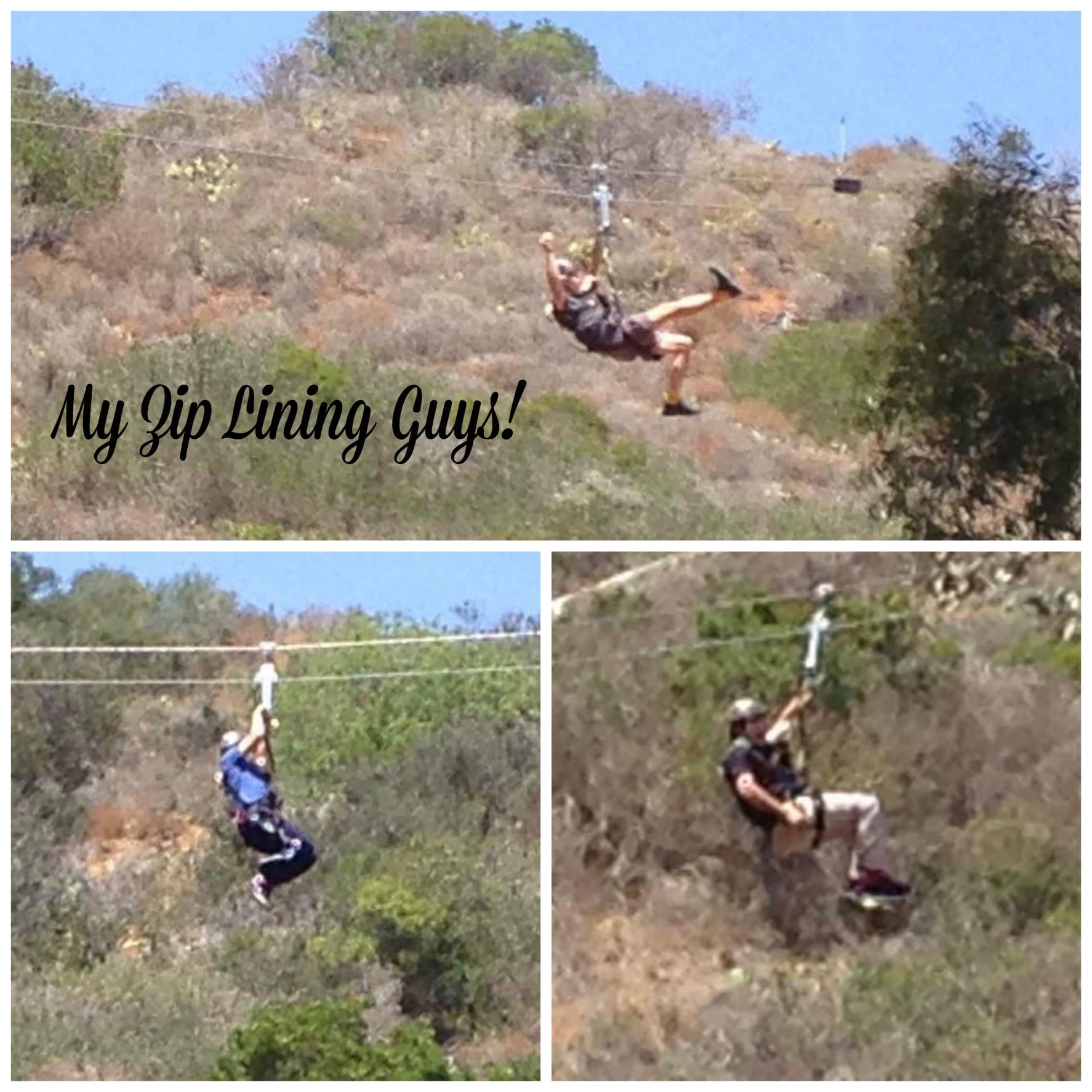 My Zip Lining guys on Catalina