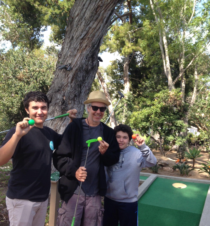 mini-golfers on Catalina Island