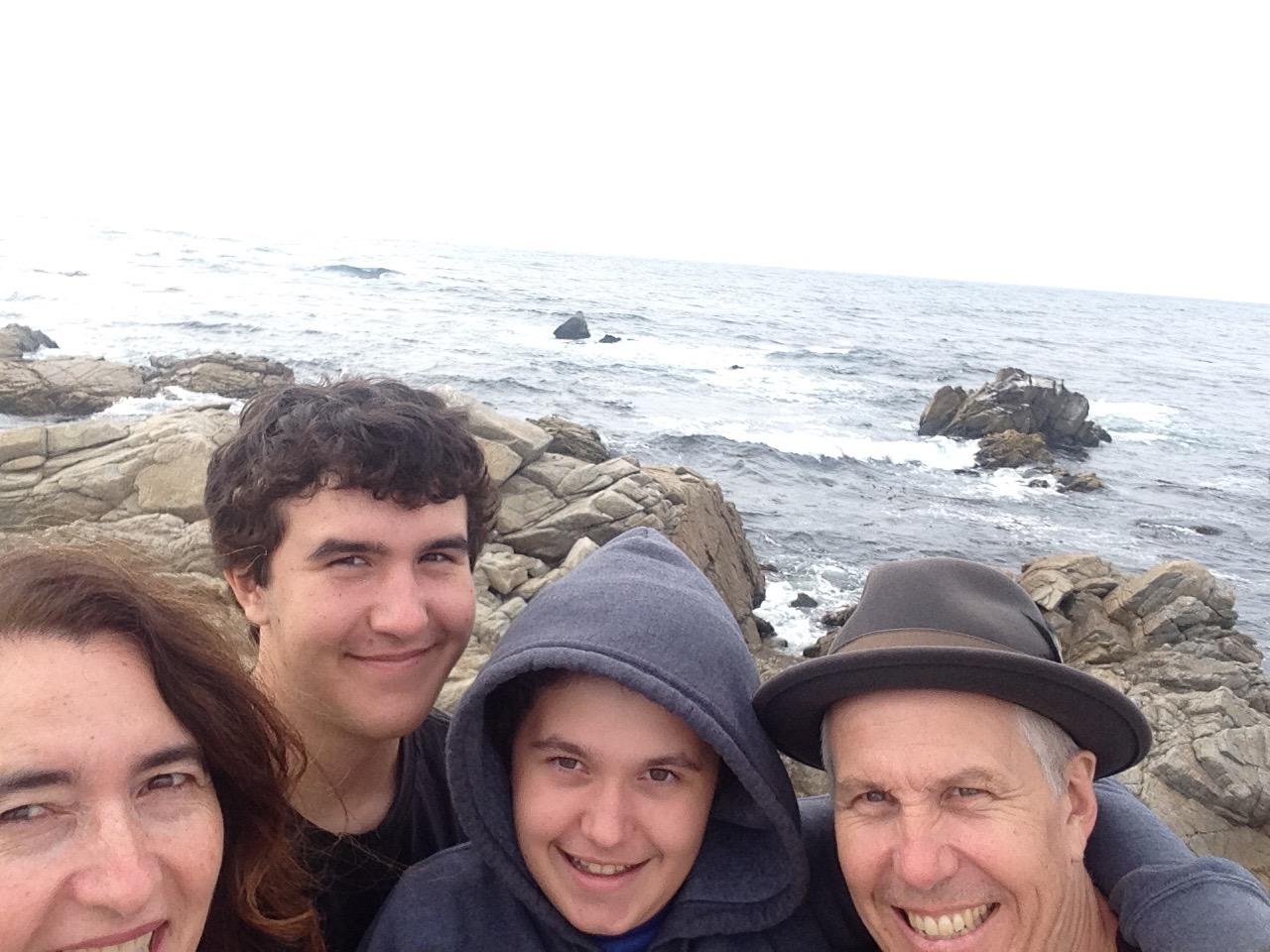 Family on the beach in Carmel