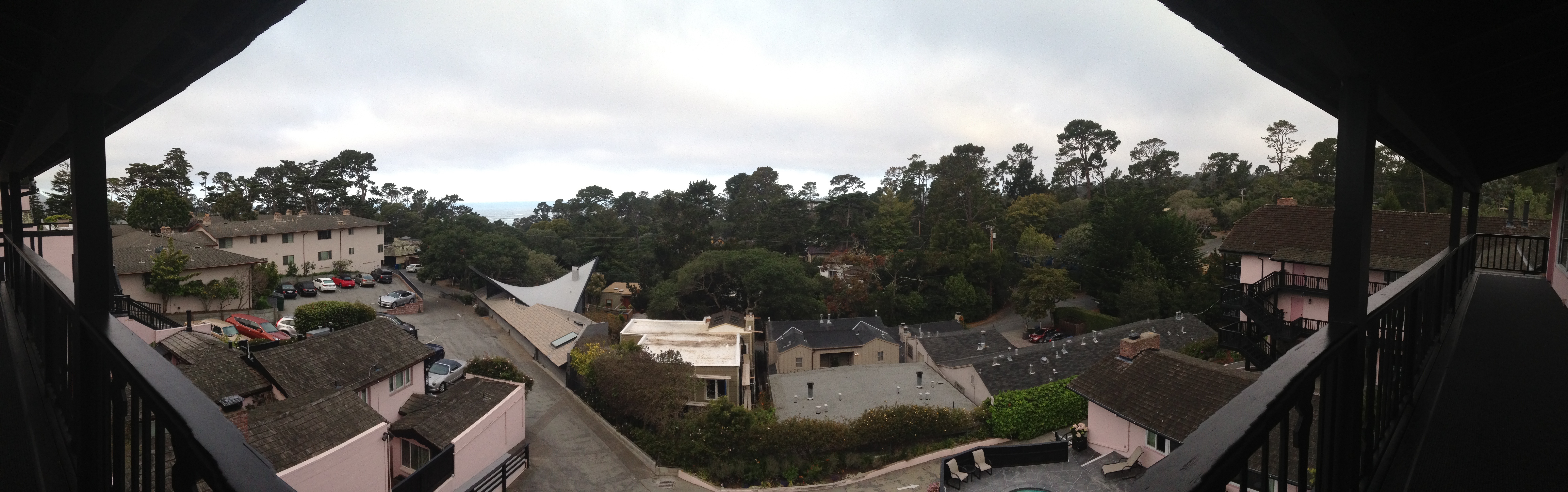 Panorama view from our room at Hofsas House Carmel