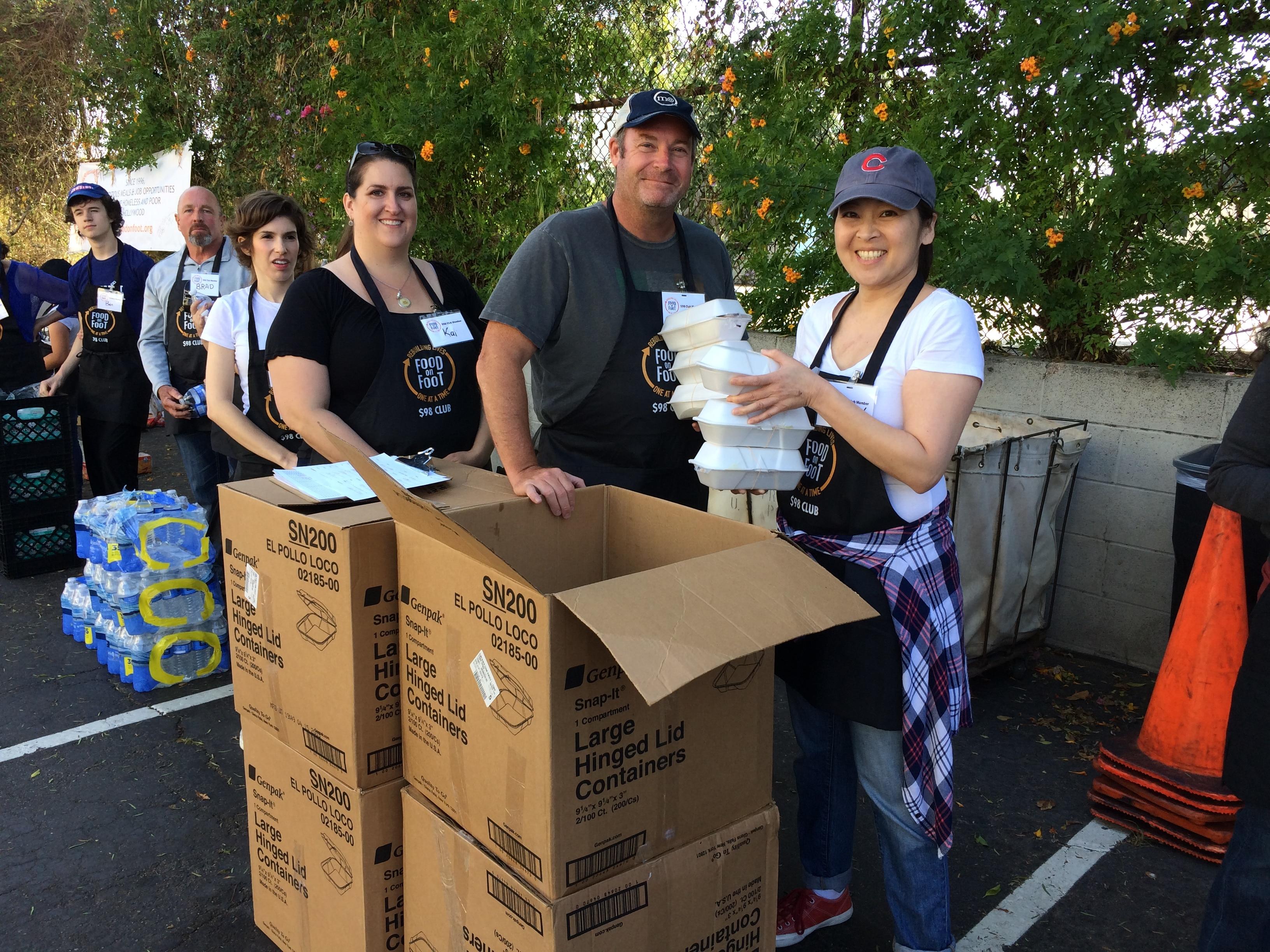volunteers at Food-on-foot