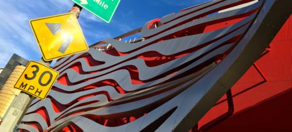 The Petersen Automotive Museum. One of the many attractions on Museum Row.