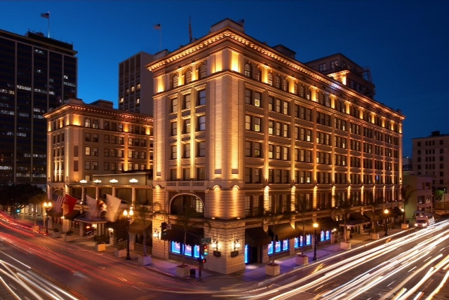 The US Grant Hotel in the San Diego Gaslamp Quarter