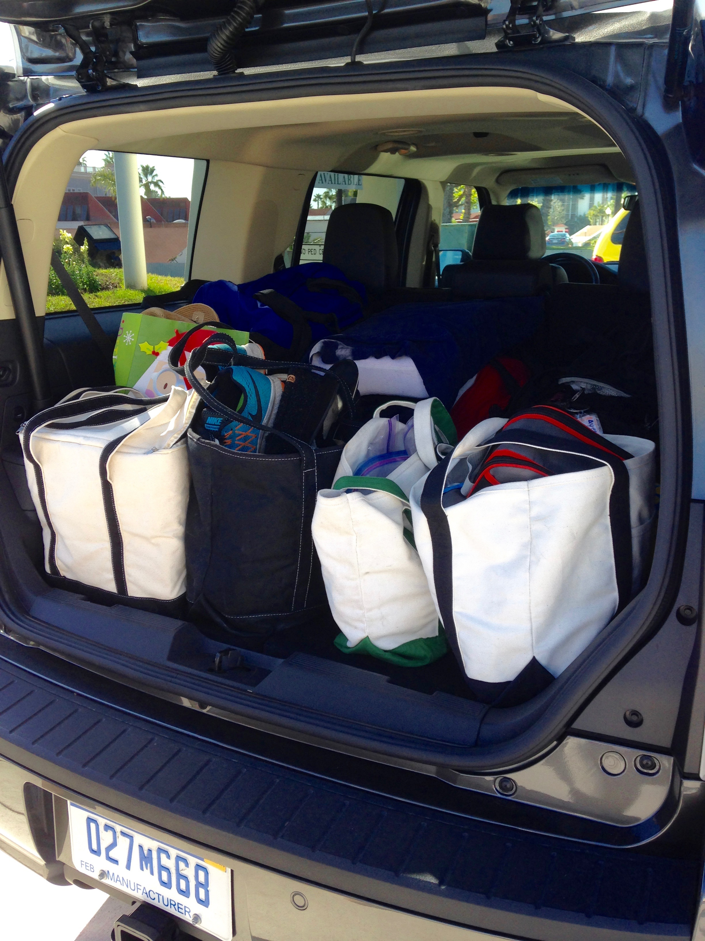 Ford Flex trunk full