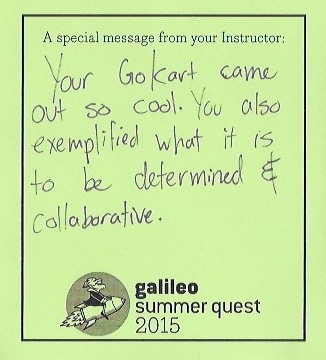 Camp Counselor words of encouragement Galileo Summer Camp
