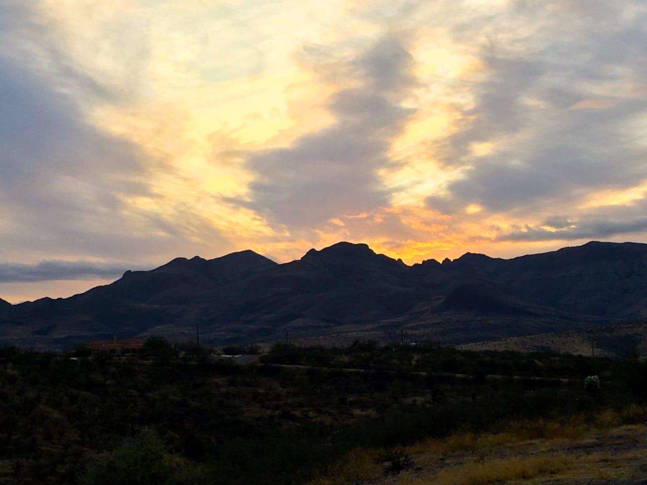 Sunset from Rio Rico, Arizona