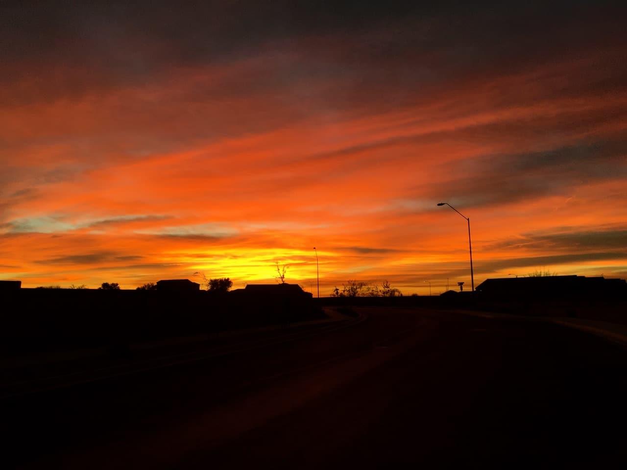 Sunset in Yuma Arizona on the way to Tucson