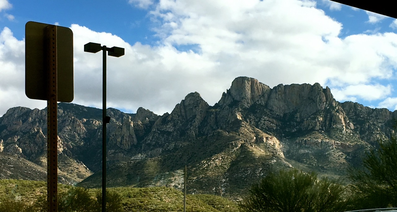View from In-N-Out in Oro Valley
