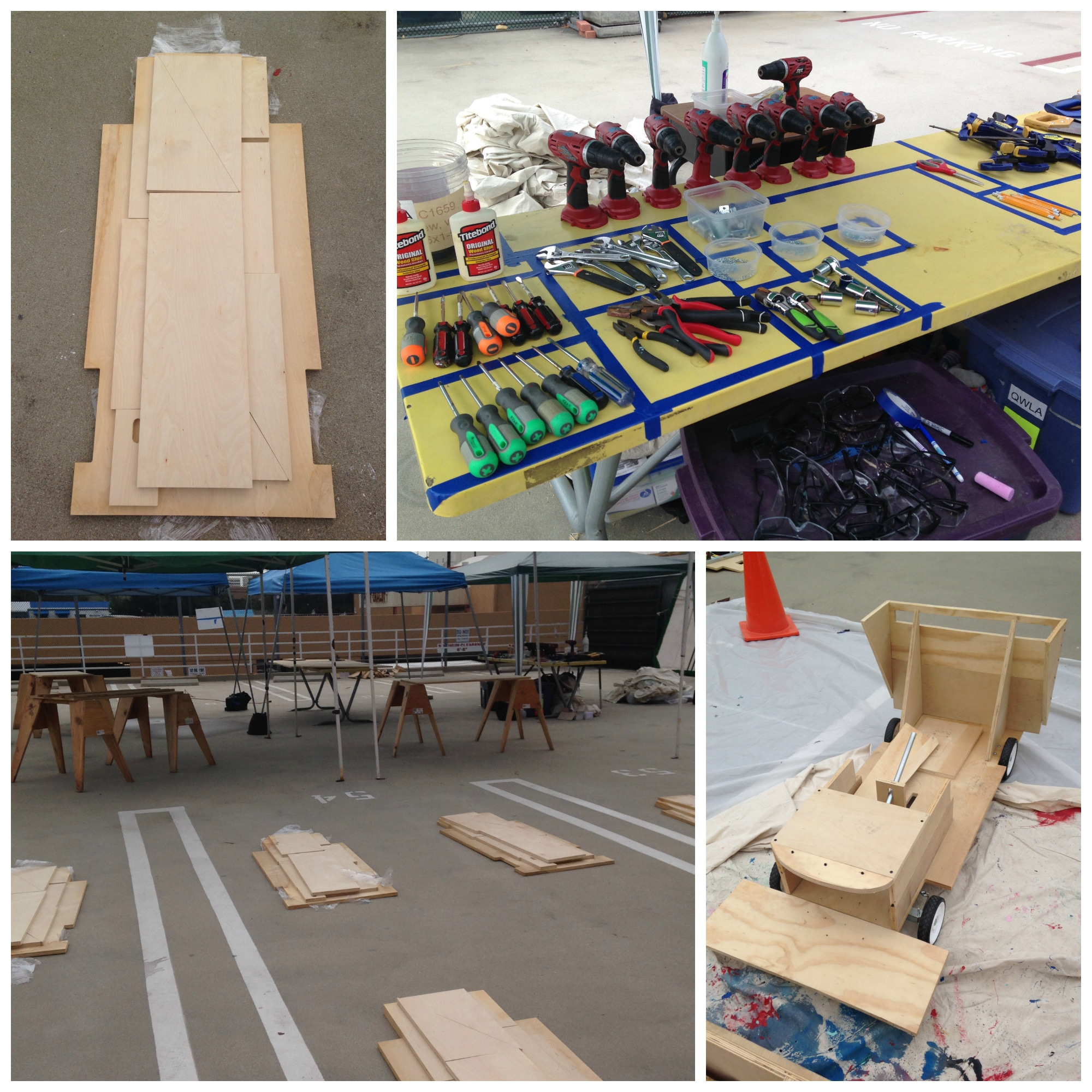 go kart component parts at Galileo Summer Camp