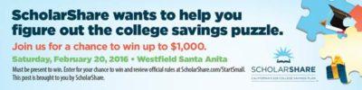 ScholarShare start small dream big campaign