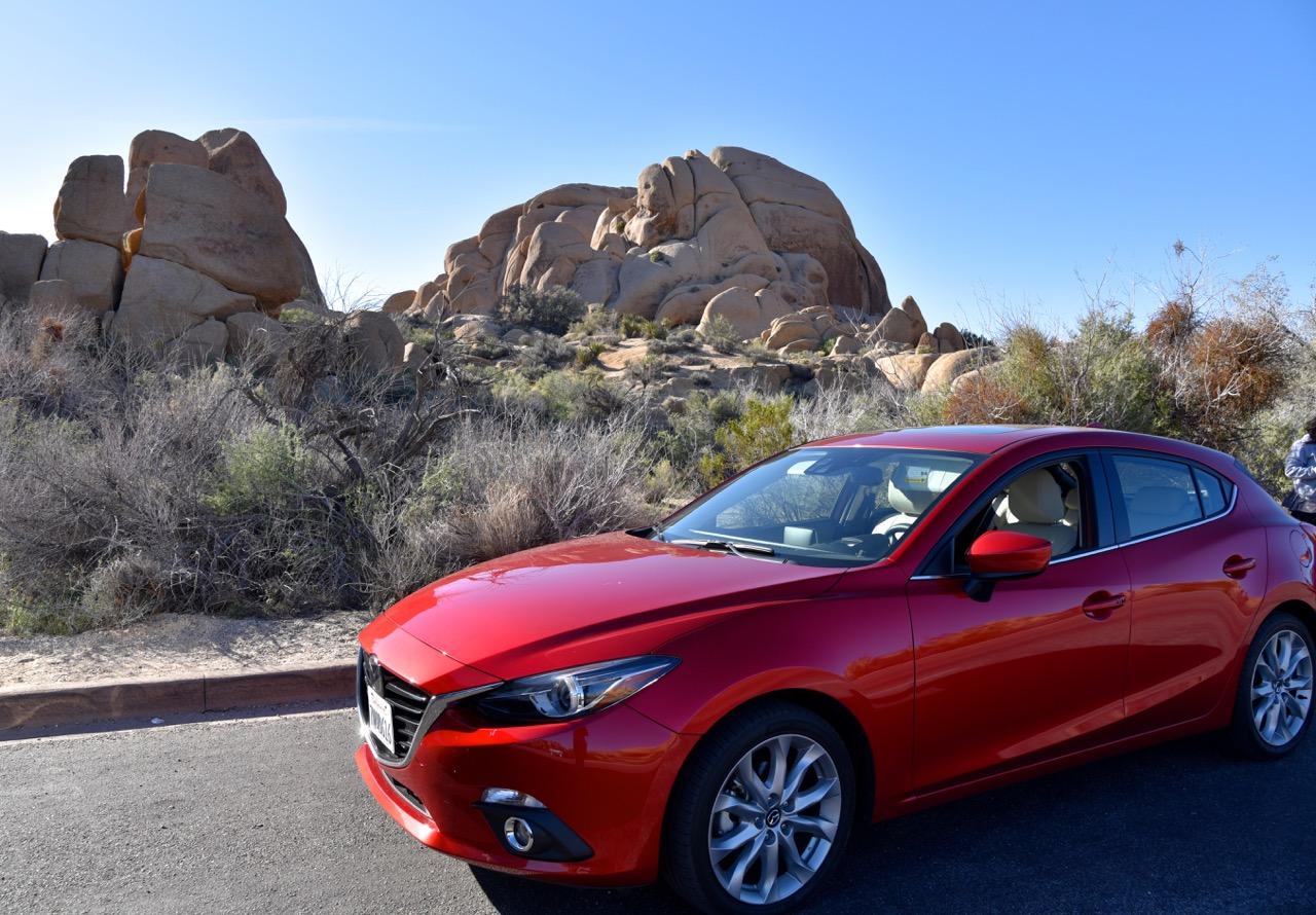 Mazda in Joshua Tree National park
