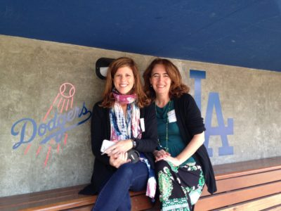 Yvonne Condes and Sarah Auerswald at Dodgers Stadium to learn about what's new with the Dodgers in 2016.