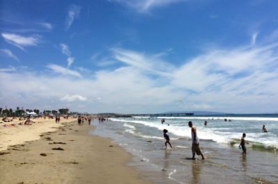 Swimming, surfing or playing at Venice Beach is just one of the fun things there are to do there with kids.