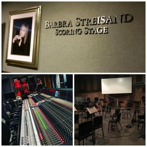 Barbara Streisand Scoring Stage