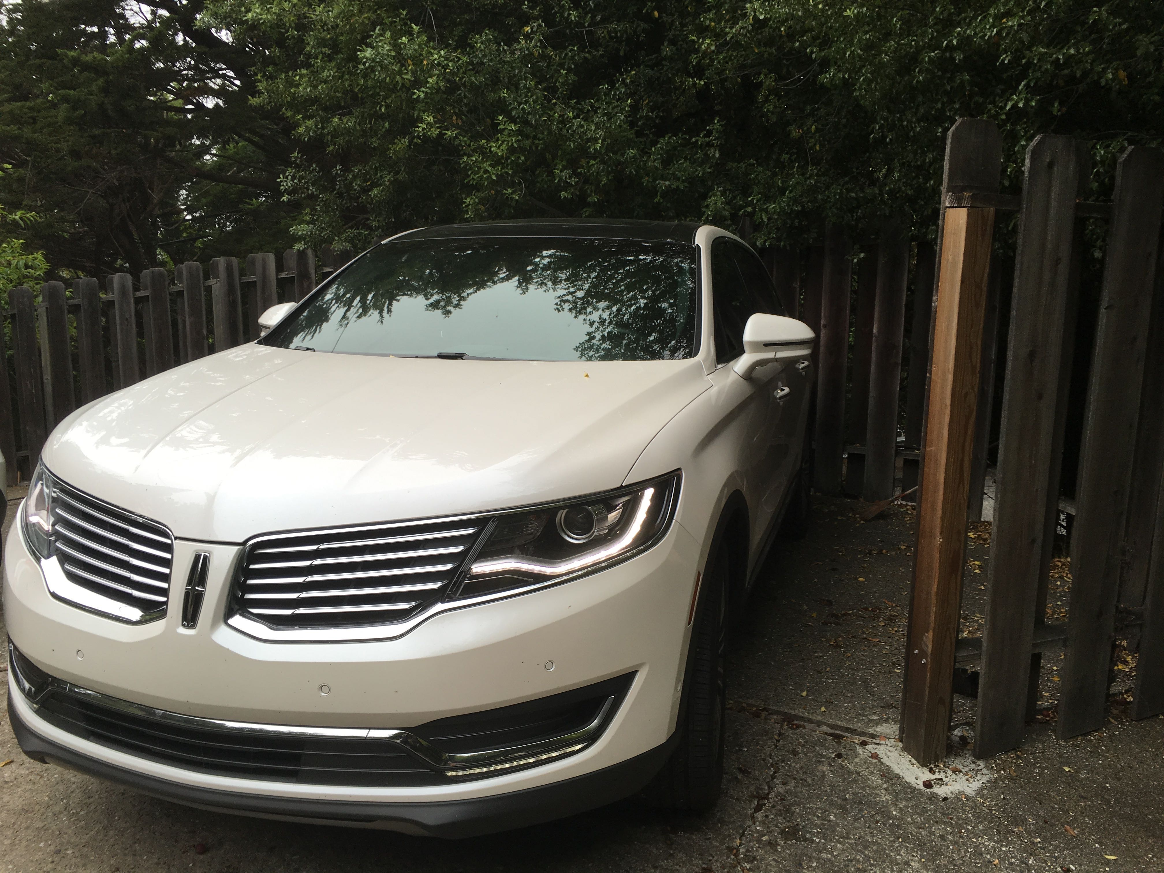 Lincoln parked