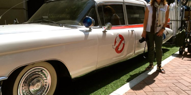 Ghostbusters Ecto 1 and Yvonne Condes