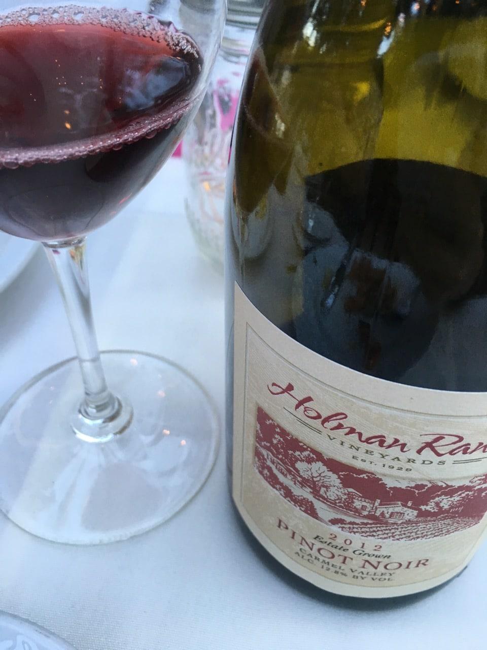 Holman Ranch Pinot Noir at Will's Fargo