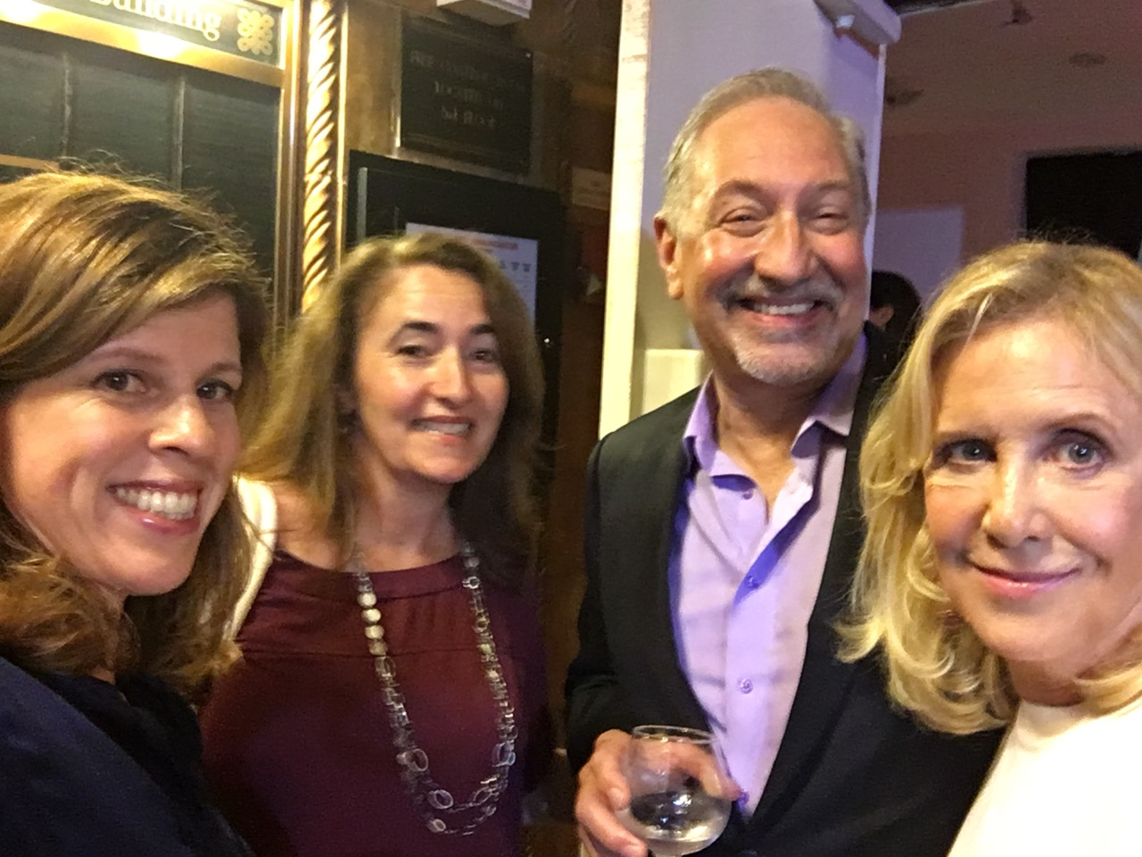 Yvonne Condes, Sarah Auerswald, Mark Geragos and Wendy Walker at premiere party for Notorious on NBC