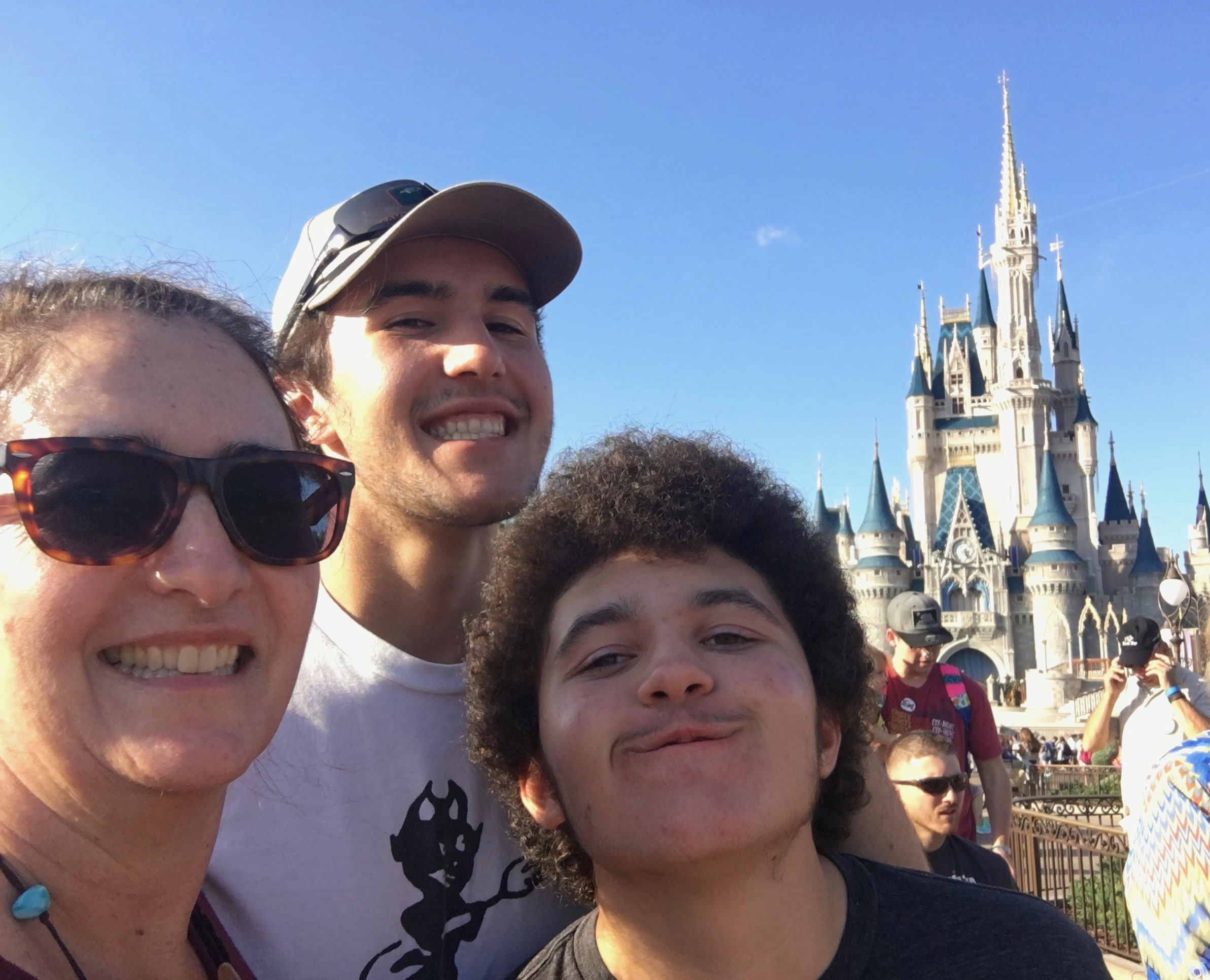 sarah-and-boys-at-magic-kingdom-castle