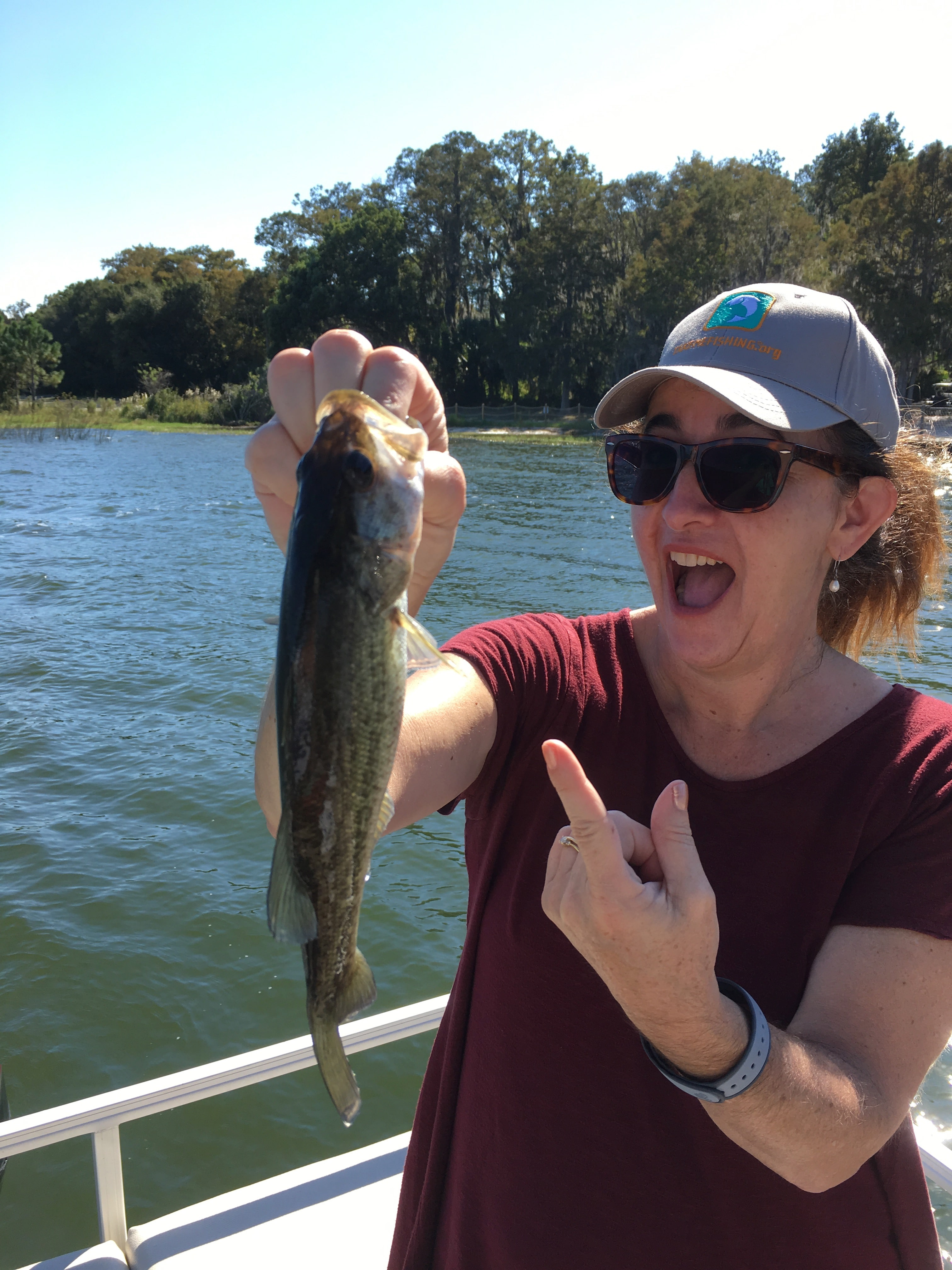 Sarah caught a fish Takemefishing.org