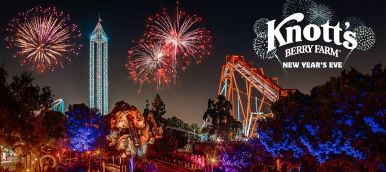 New Year's Eve at Knott's Berry Farm is one of the Fun events for families to celebrate the new year