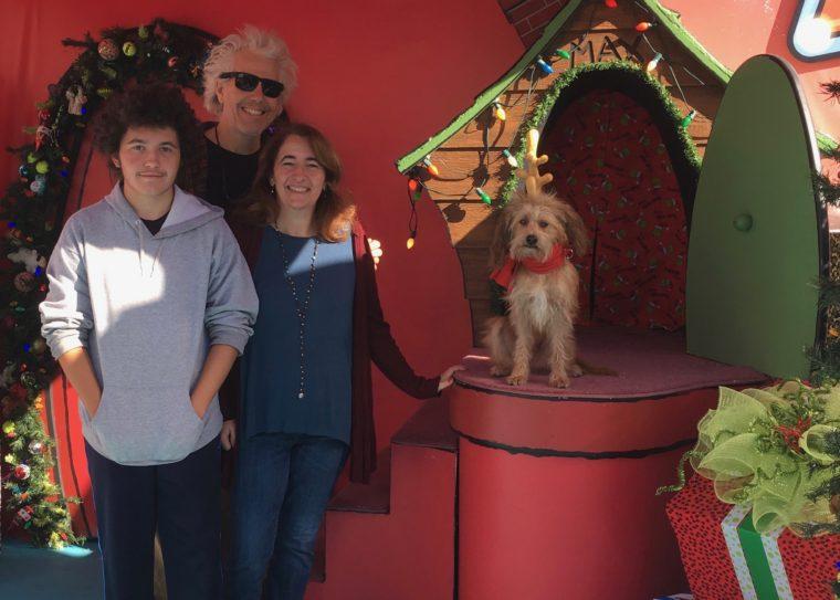 family photo with Max at Granchmas Universal Studios Hollywood