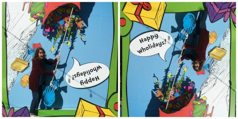 wholiday trick photo at Grinchmas Universal Studios Hollywood