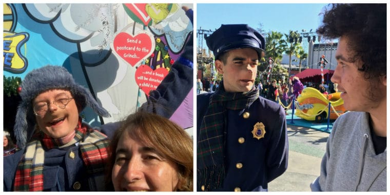 meeting the Who characters at Grinchmas Universal Studios Hollywood