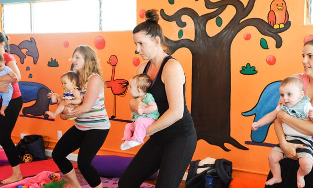 Zooga Yoga is one of the fun places to work out with your baby in Los Angeles