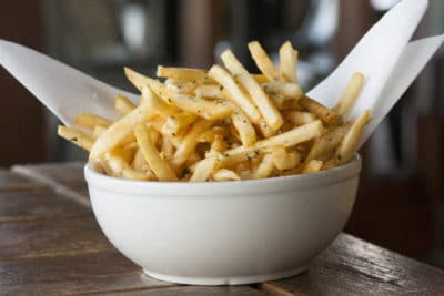 French fries at the Tickle Tree Cafe is just one of the things to do with kids in La Crecenta Montrose