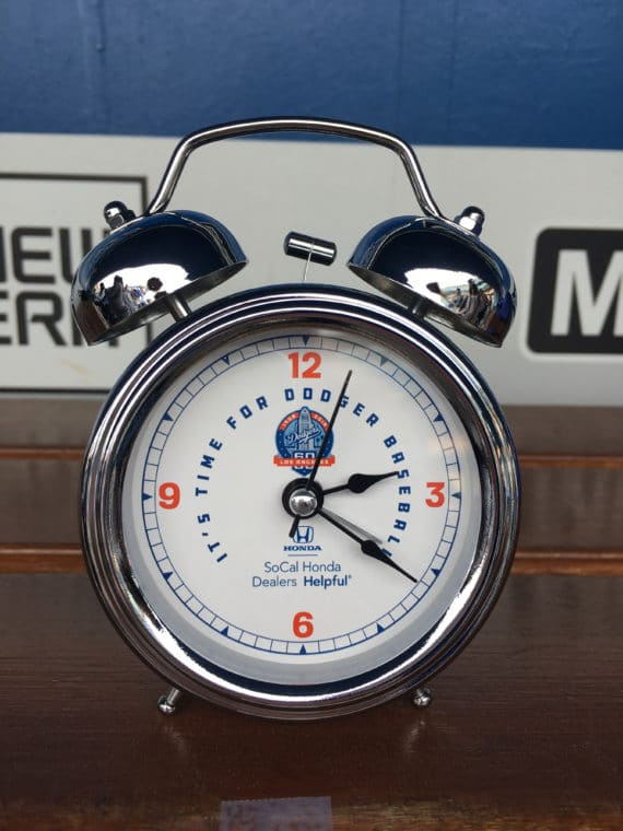 Dodgers clock