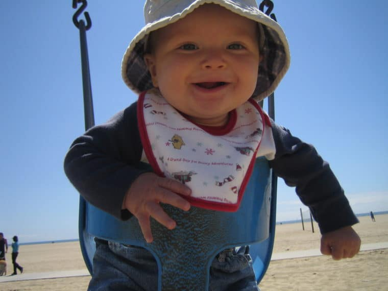 Santa Monica beaches have great playgrounds for kids