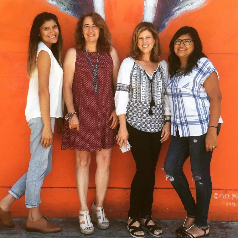 Bricia of Super Mamas, Sarah and Yvonne of MomsLA, and Paulina of Super Mamas podcast.