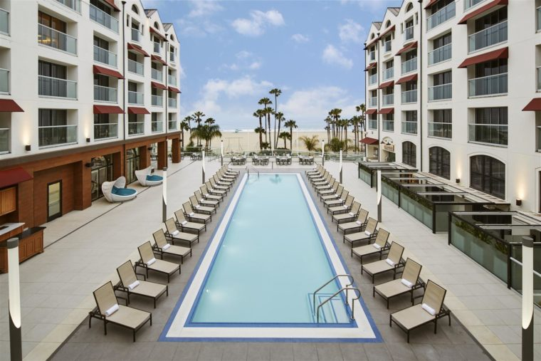 Pool Deck - Loews Santa Monica Beach Hotel