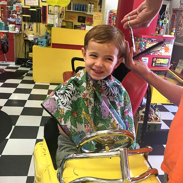 The Yellow Balloon is one of the great places in Los Angeles to get your child's hair cut.