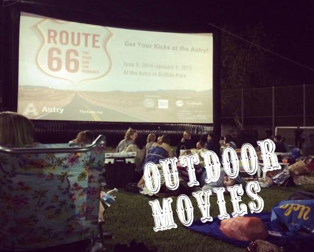 Summer outdoor movies in LA