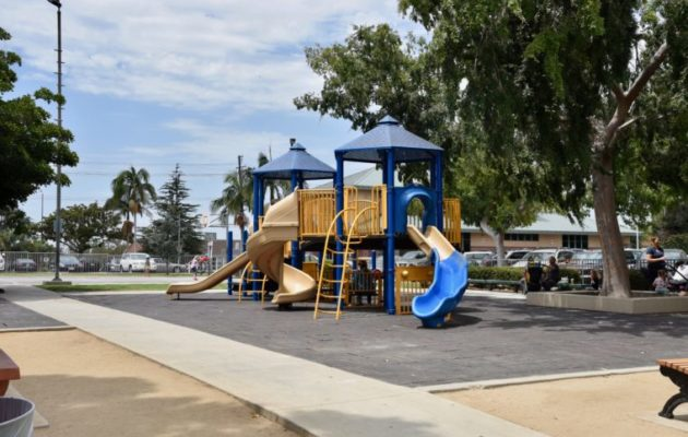 Palms Park in West LA has a library, preschool, playground and soccer field