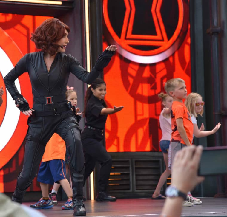 Black Widow in Avengers Training Initiative at California Adventure