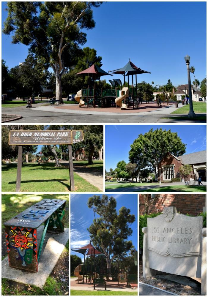 Los Angeles High Memorial Park in the Mid-Wilshire neighborhood
