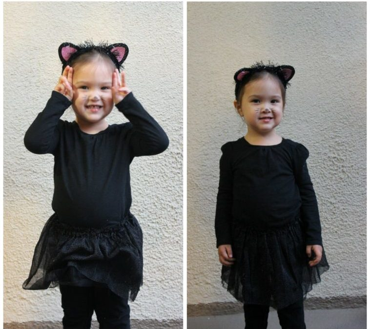 Easy and low-cost DIY costumes for toddlers. #halloween #costumes #toddlercostumes #mousecostume