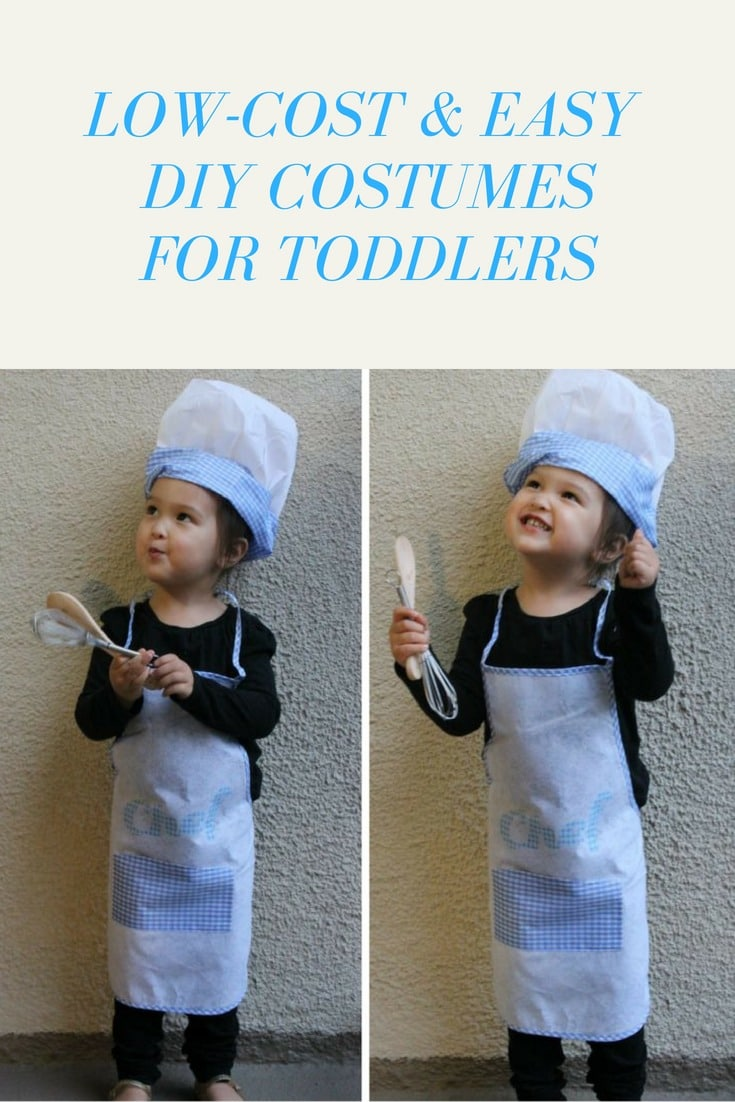 Easy and low-cost DIY costumes for toddlers. #halloween #costumes #toddlercostumes